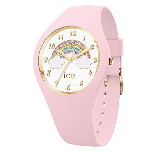 Ice-Watch - ICE fantasia Rainbow pink - Rosa Damenuhr mit Silikonarmband - 017890 (Small)