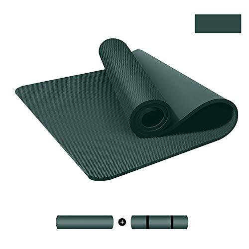 TOPYL - Esterilla de yoga de 15 mm extra gruesa, resistente, portátil, antideslizante, larga y más ancha, espuma cómoda y cómoda para pilates, color C, tamaño 200x90cm(79x35inch)