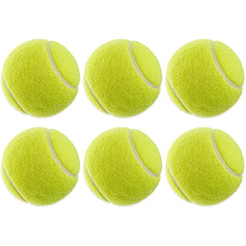 Tennisbälle Training, 6 Stück Tennisbälle für Tennis Freizeit Übungsbälle Tennis Gelb Spielbälle für Anfänger Erfahrene Kinder Hunde Trainingsbälle Bälle Tennis für Outdoor Spiele, Durchmesser 64cm