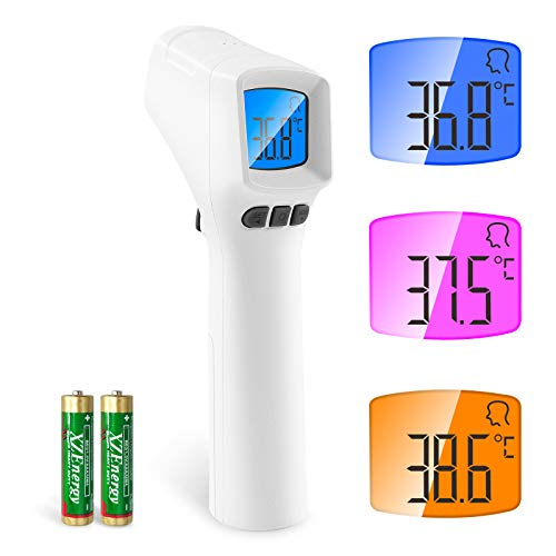 Fieberthermometer Kontaktlos,SOYES Digitales Infrarot thermometer mit SEMITEC Sensor, Medizinisches Infrarot Stirn Stirnthermometer mit LCD-Anzeige, Fieberalarmsystem, für Erwachsene und Kinder