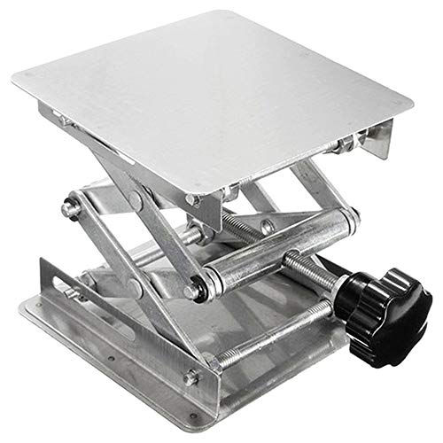 Laboratory Lift Small Manual Stainless Steel Lifting Table 100x100mm Small Lifting Platform Course Teaching Laboratory Equipment