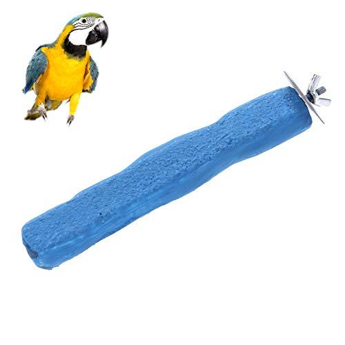POPETPOP Percha para pájaros Percha de Superficie Rugosa para Pinza de Loro Palo para Recortar Las uñas (Azul)