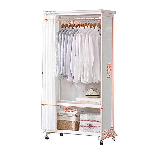 Met katrol staande garderobe met spiegel. Volledig lichaamsspiegel, stofgordijn, houten beugel, in Europese stijl, slaapkamer, woonkamer C B