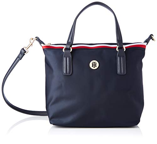 Tommy Hilfiger Damen Poppy SMALL Tote Taschen, Captain Corp Sky, One Size