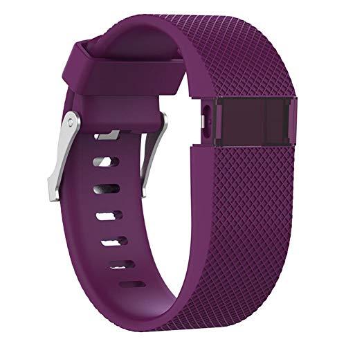Biback - Correa de repuesto para Fitbit Charge HR, de silicona, para Fitbit Charge HR, accesorios de banda grandes (no compatible con Fitbit Charge, Fitbit Charge 2), Morado, Small