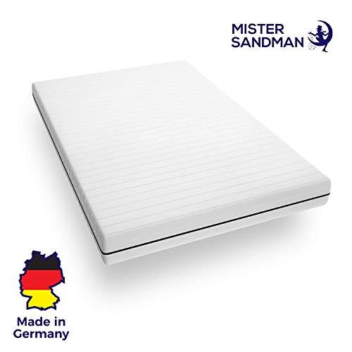 Mister Sandman punktelastische 7-Zonen Kaltschaummatratze für erholsame Nächte – mittelfeste bis Feste Matratze H2 H3, Premium Doppeltuchbezug, Gesamthöhe ca. 15 cm (140 x 200 cm, H3)