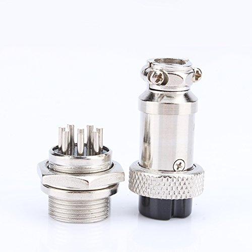 Conector de enchufe del enchufe, enchufe del conector de alambre de níquel -50~70 ℃ con equipo de metal (plata)