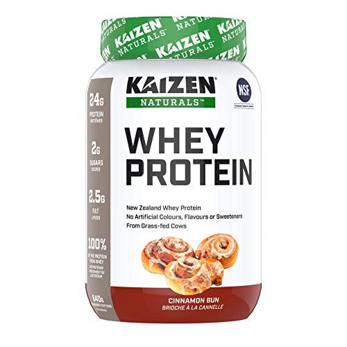 Kaizen Naturals Whey Protein, Cinammon Bun, 840 g