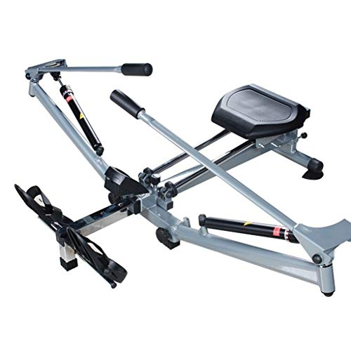 Qazxsw Vogatore,Ripiegamento Idraulico Vogatore Ragazze Full Body Casa Esercizio Attrezzature per Il Fitness Pieno Esercizio Corpo,Nero,139 * 49 * 45cm