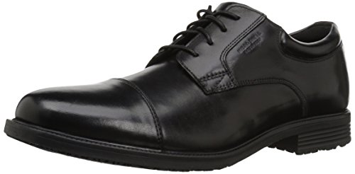 Rockport mens Essential Details Water Proof Cap Toe oxfords shoes, Black, 10.5 US