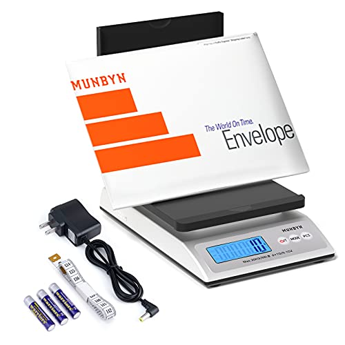 MUNBYN Digital Shipping Scale, 66lb Postal Scale with Hold and Tear Function Gram/Ounce/Pound Mail Postage Scale for Shipping Packages Mailing Small...