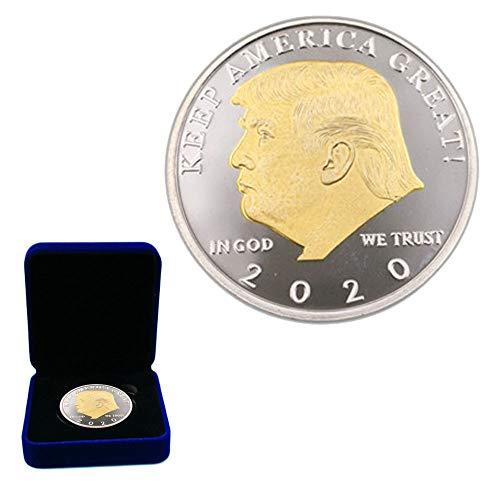 Ee. Uu,Trump,Moneda Conmemorativa,Dpp,Alta Calidad,Colección,Exquisito,Traje,Caja de Exposición,Metal Placa/dorado / 2020
