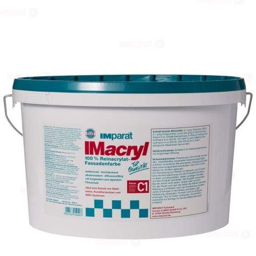 IMparat Imacryl weiß 12,5l - Seidenmatte Reinacrylat Fassadenfarbe