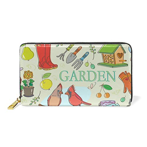 FAJRO Gartenset Muster Geldbörsen für Frauen Leder Clutch