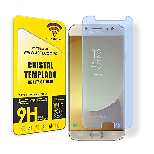 actecom® Protector DE Pantalla Compatible con Samsung Galaxy J3 2017 Cristal Vidrio Templado