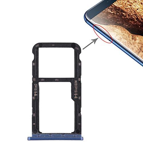 Dmtrab Recambio Bandeja de Tarjeta SIM + Bandeja de Tarjeta SIM/Tarjeta Micro SD for Huawei Maimang 6 (Negro) Tarjeta De Teléfono (Color : Blue)