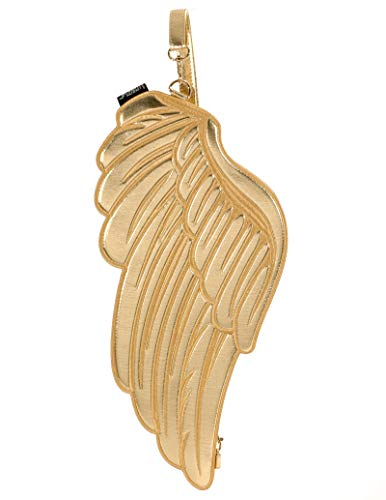 FYDELITY Quiver Angel Wings Backpack/Sling Bag/Clutch -Gold Holographic| Women