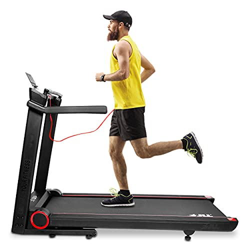 JLL T550 Digital Folding Treadmill, 2021 New Generation Digital Control 4.5HP Motor, 20 Incline Levels,0.3km/h to 18km/h, 30 Programmes, Bluetooth & Speakers, 2-Year Parts & Labour,5-Year Motor Cover