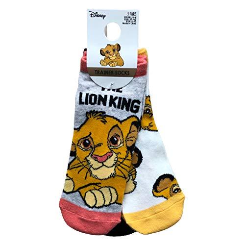 Primark Limited - Pack 3 Calcetines de El Rey Leon con Licencia Oficial Disney (Simba, Timon y Pumba) - The Lion King - para Mujer 4-9 EUR 37-42