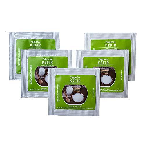 Starterkultur für Kefir 5 Beutel für 5 Liter originalen hausgemachten Probiotik Milchprodukt