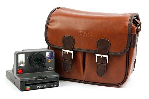 DURAGADGET Borsa Vintage per Fotocamera Polaroid OneStep 2 | OneStep+ | Kodak Printomatic - con Tracolla Regolabile - Alta qualità