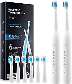 2-Pack E-Shidai 6 Optional Modes and 2-Minute Built-in Timer Toothbrush