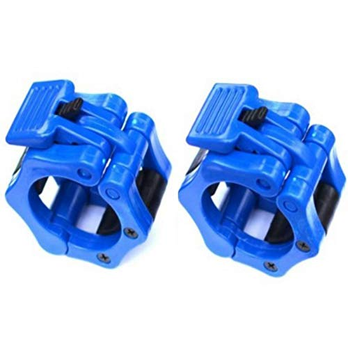 Best Prices! residentD 1 Pairs Barbell Clamp Locks Fitness 50mm ABS Lock Jaw Collar Training Muscle Clamp Bar Barbell Buckle (Blue)