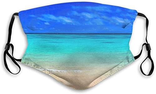 Keregugu Women Men Multifunzionale Half Face Bandana Reusable Peaceful Sea Blue Sky 3D Print Breathable Dust Protective Face Covering
