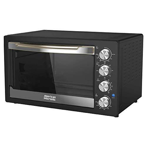 American Micronic-AMI-OTG-42LDx- 42 Litre Oven Toaster Griller, 2000W Rotisserie, Convection, Dual Thermostat, with Inner Light (Black)