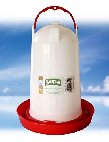 Supa Abreuvoir en Plastique pour volaille Rouge et Blanc 200 g