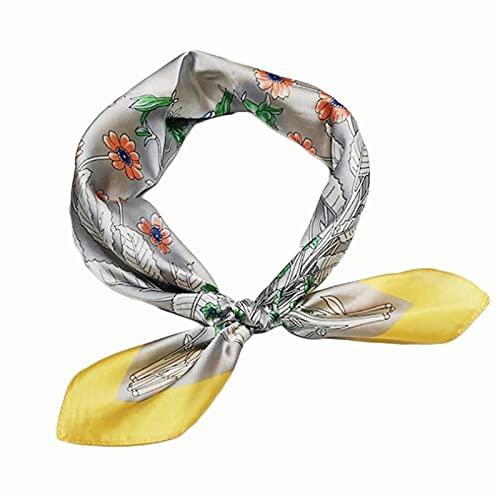 GZA Nuevo Bufanda De Seda De 70 Cm Black Bouquet Imprimir Pequeño Cuello Bufanda Cuello Decoración (Color : 2)