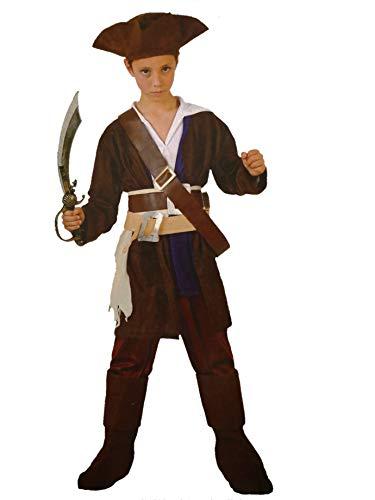 Atosa Disfraz de Pirata del Caribe Infantil - Niño, 10-12 años