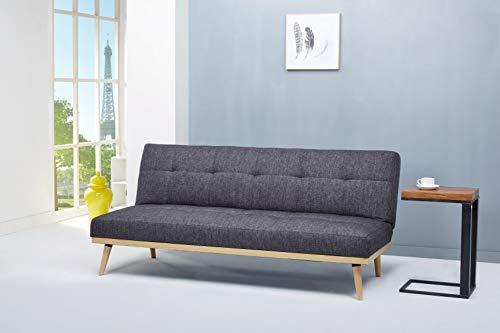 AmazonBasics- 3-Sitzer-Sofabett, 182 x 80 x 80 cm, Dunkelgrau