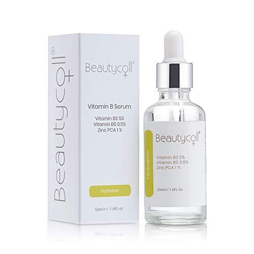 Beautycoll Vitamin B5, B3 and Zinc PCA Conditioning Skin Serum | Natural Hydrator and Anti Inflammatory Cream | Reduce Redness, Irritation and Oiliness | Plump and Moisturise Skin Layers - 50ml