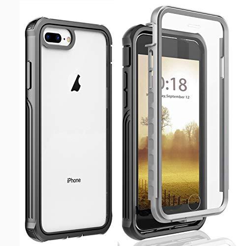 AICase Funda iPhone 6 Plus/iPhone 6S Plus/iPhone 7 Plus/iPhone 8 Plus,Transparente y Resistente,Case Protectora con Protector de Pantalla Incorporado para iphone6 Plus/6S Plus/iphone7 Plus/8 Plus
