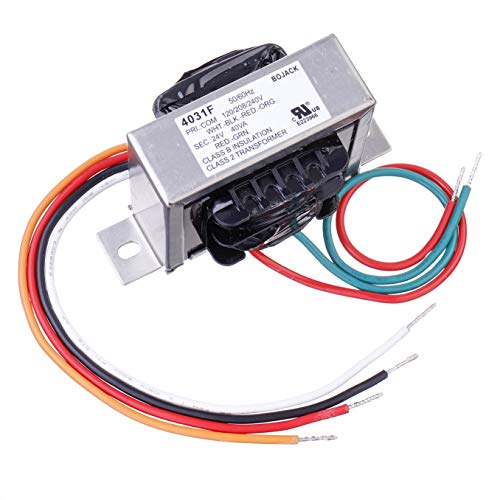 BOJACK EI Type Isolation Transformers PRI.120/208/240 V AC 50/60Hz 24 V AC 40 VA 4031F Class 2 Control Transformers with Foot Mount Replacement for Jard 4031F HVAC Furnace Multi Tap Packard 42440