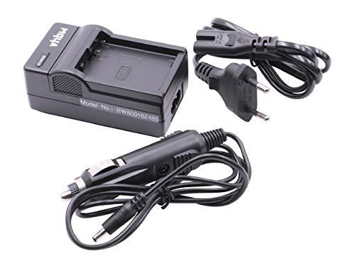 vhbw LADEGERÄT LADEKABEL NETZTEIL inkl. KFZ-LADER passend für Panasonic Lumix DMC-G6H, DMC-G6K ersetzt DMW-BLC12, DMW-BLC12E, DMW-BLC12PP, BP-DC12