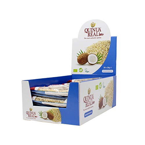 Quinua Real Riegel aus Quinoa Real und glutenfreier Kokosnuss Bio (Box mit 20 Stück), 400 ml