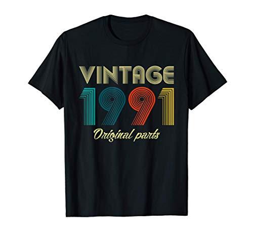 Vintage 1991 30th Birthday Gift Ideas Men Women Him Her T-Shirt