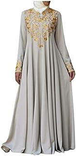 Dresses Popular Styles Women Print Long Sleeve Dress, Size:5XL(Green) (Color : Beige, Size : 5XL)