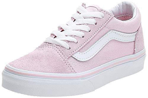 Vans Kids K Old Skool V Suede Canvas Chalk Pink White Size 10.5