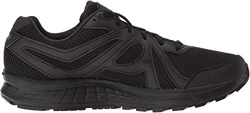 Saucony Men's Cohesion 11 Running Shoe, Black, 10 Medium US