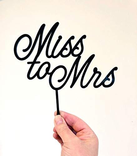 Miss to Mrs Bruidsdouche Taarttopper | Taartdecoratie | Verloving | Bruidsdouche | Gouden Spiegel Zilver Spiegel Rose Goud Gemaakt om te bestellen