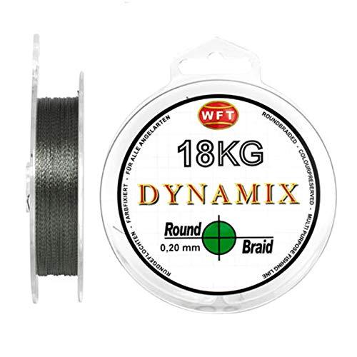 WFT Round Dynamix 300m Angelschnur geflochten rund - 0.08mm - Grün #1D-C 101-008