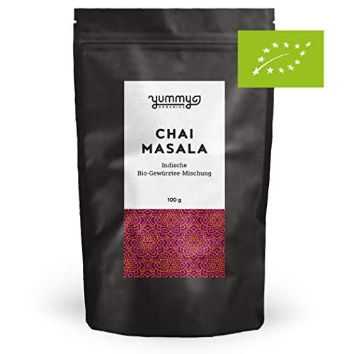 Bio Chai Masala Mischung für indischen Gewürztee, 100g Beutel | fair gehandelt & handmade | Gewürzmischung für Chai Latte