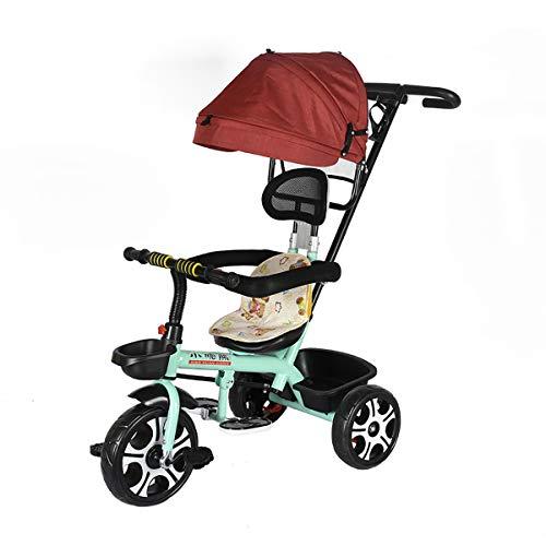 AI-QX Triciclo City MAX para Bebés Desde los 18 Meses con Mango para Control Parental de Dirección,Blue
