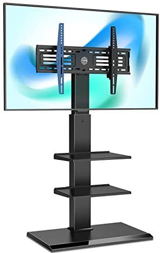 FITUEYES Floor TV Stand with Adjustable Shelf for TVs Up to 65 LCD LED OLED Plasma Flat Panel product image