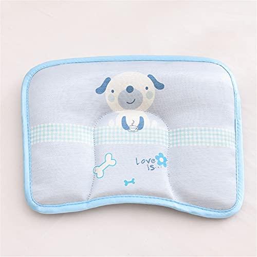 Almohada Fresca para Niños, Almohada Estereotipada para Recién Nacidos, Almohada de Seda de Hielo para Bebés, Almohada para Bebés, Cabeza Anti-Sesgo,B