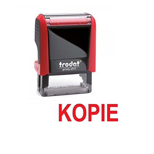 Automatikstempel mit text KOPIE – TRODAT Printy 4911 tinte rot - letzte Generation