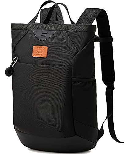 Myhozee Rucksack Herren Damen - SchulrucksackWasserdicht Laptop Rucksack Handtasche 15.6 ZollWanderrucksackLässiger Taschemit Hülle kompatibel für Apple AirTag Daypack, Schwarz